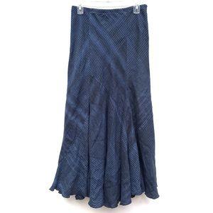 J. Jill Plaid Linen Bias Cut Panel Maxi Skirt